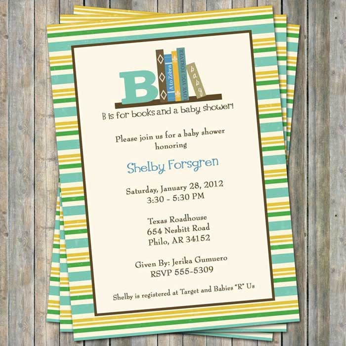 bring a book baby shower invite baby boy shower invitation