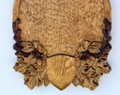 Decorative Taxidermy Plaque, hand carved -tp 003