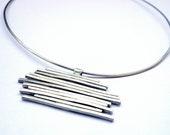 Sterling Silver Necklace - artistic - sculptural - unique - modern - handmade
