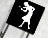 Paperclip Bookmark Glass Tile Nancy Drew Sihouette Detective Mystery Novel Trendy Cool