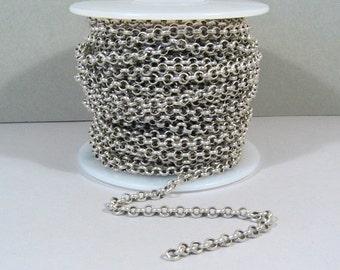 5ft Rolo Chain - Antique Silver - CH12