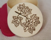 Maple leaves - Wooden Jewelry BOX