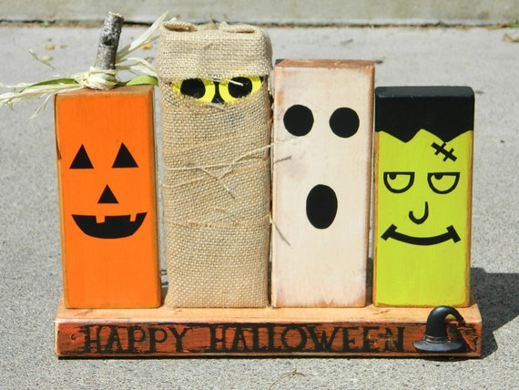 halloween decoration - Wooden Halloween Decorations