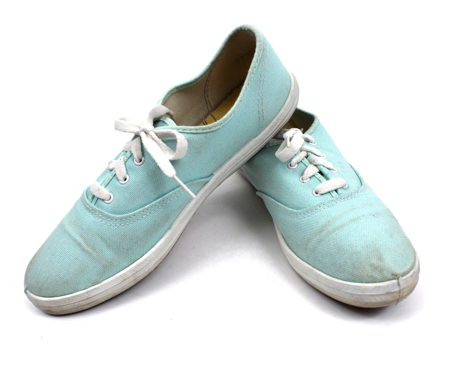 1970s mint colored tennis shoes keds style casual womens