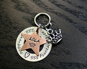 Custom Pet ID Tag - Layered Star and Washer - The Supa Star!