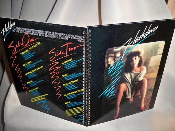 Flashdance soundtrack album notebook