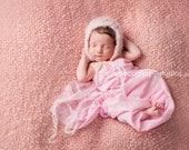 the Sweetheart : Newborn HAT - Blush- Newborn Photo Prop -  newborn knit hat, baby hat, maternity, photography