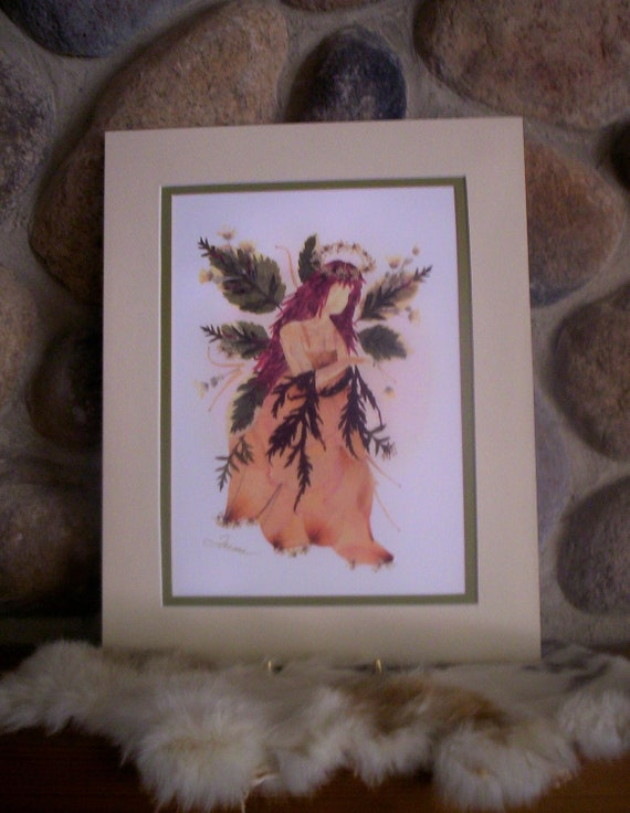 Fairy of Peace - 11 x 14 matted Print - Flower Fairy Art