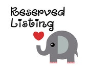 Reserved for Shanna Only Please