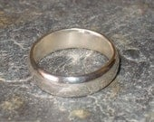 Unisex Sterling Silver Thumb Band Wedding Ring, Bevelled Edge - or in 9ct Gold - made in any size - Alianza de Boda, Unisexo