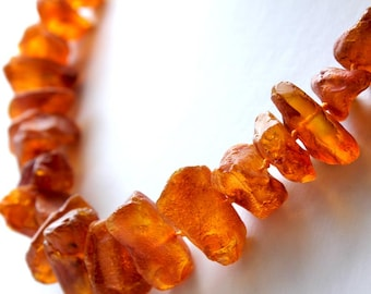 Baltic Amber Necklace Honey color raw beads