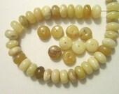 SALE opal peruvian yellow rondelle 12x6mm 4 beads
