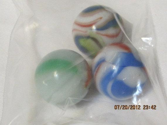 Vintage Marbles Shooters/Boulders Set of 3