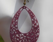 Large Pink earrings