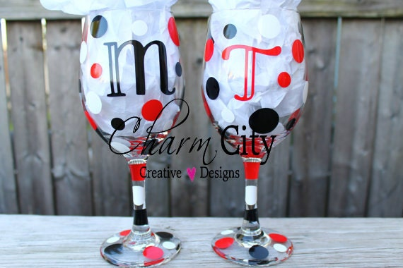 Personalized Wine Glass 20 oz Bridesmaids, Gifts, Birthday, Anniversary