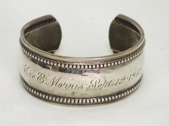 Sterling Silver Bracelet 1912 Engraved