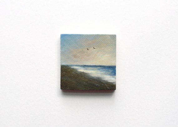 Beach Magnet Oil Painting
