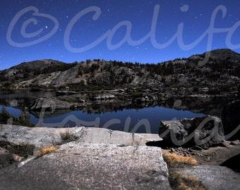Twinkle Twinkle - an 11x14 photograph of a Stary Night reflected by a Calm Lake