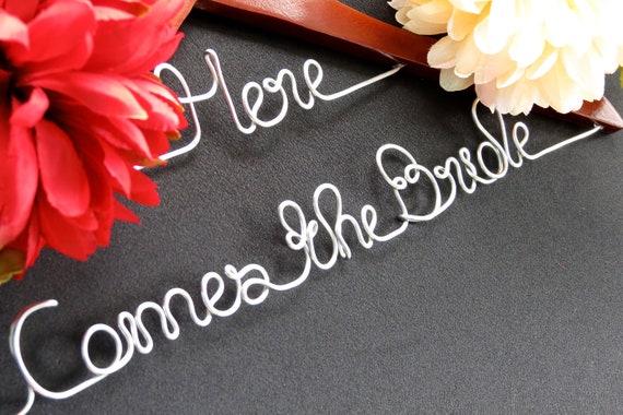SALE Wedding Dress Hanger, Here Comes the Bride, Shower Gift, Custom Hanger, Unique Gift