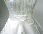 A Simply stunning 50s Wedding Dress in ivory duchess satin Custom