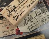 Vintage Post Rubber Stamp