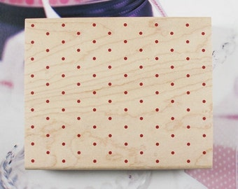 Dot Background Rubber Stamp
