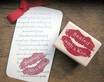 Sealed With Kiss Rubber Stamp