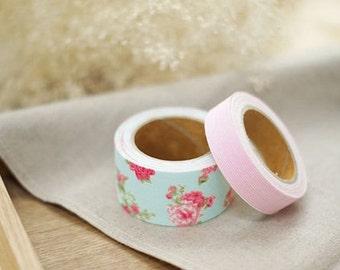 Decorative Adhesive Fabric Masking  Tape- Pure (2 Set)