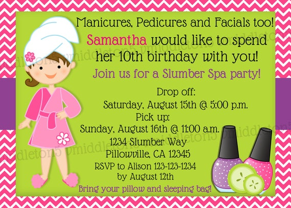 Slumber Party Invitation was beautiful invitations template