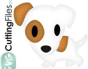 Jack Russell Terrier dog puppy SINGLE FILE, walking SVG cutting files for cricut and cutting machines,  for card making and scrapbooking
