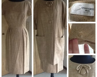 Lovely Sophisticated Miss Dress and Jacket Set XS S