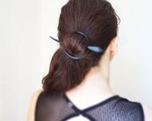Ebony wood barrette  shawl pin hair pin hair accessories breakfast at Tiffany