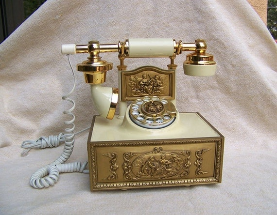 Hollywood Regency telephone ornate and WORKING by Western Electric