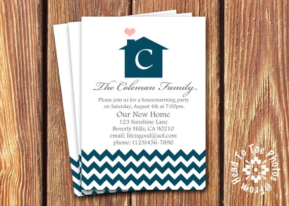 Housewarming Invitations or We've Moved Announcements
