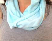 SALE Turquoise Infinity T-Shirt Scarf Hand Dyed with Ready to Ship