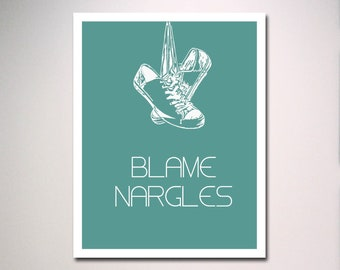 Harry Potter Typography Wall Art / Blame Nargles Poster Print