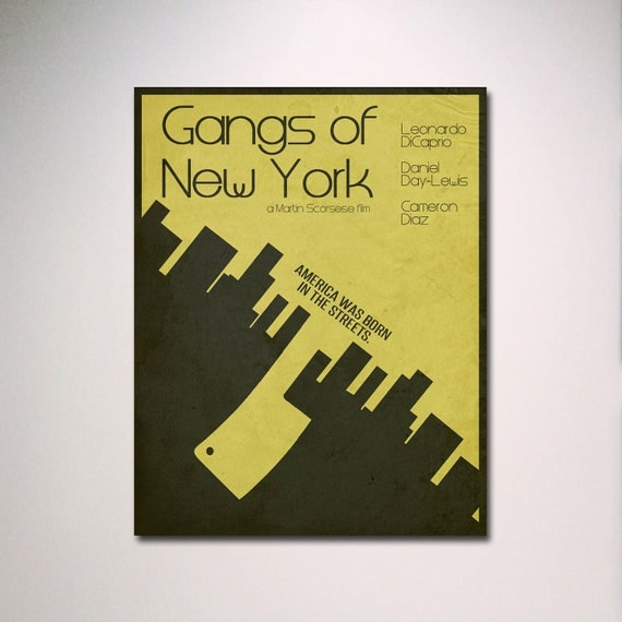 Gangs of New York Minimalist Movie Poster / Multiple Sizes Available