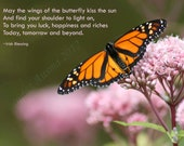 Best wishes card Butterfly photo with Irish Blessing