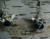 SALE: HALF OFF Rainbow Miniature Origami Crane Earrings