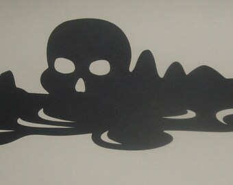 Skull Island, Captain Hook, Peter Pan, Neverland, Silhouettes for framing and party decorations