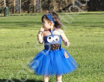 Cookie Monster Tutu Dress- Toddler