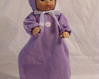 "15-16"" Lavender Bunting and Hood Set"