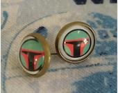 Boba Fett Inspired Earrings