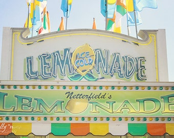Fair Photography- Carnival Photo, Lemonade Stand Print, Yellow Green Blue, Colorful Children's Decor, Kid's Room Decor, Pastel Wall Art