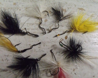 Vintage Fly Fishing Lures 8 pc