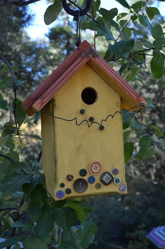 Decorative Functional Birdhouse Yard Art Ready To Ship