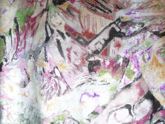 """NEW 2 pieces 4""""x6"""" Pink Metallic Abstract multicolored print grain Cowhide Leather Hide 2 oz/ .8 mm"""