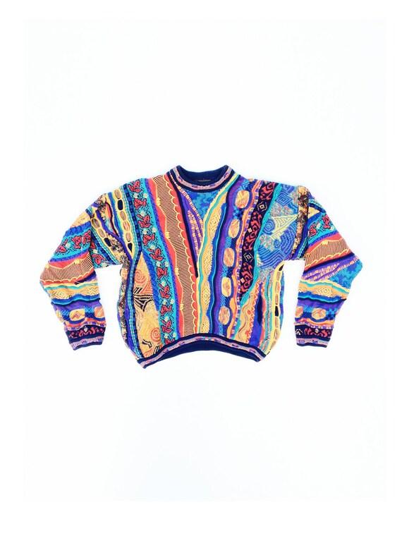 Classic 80s Rainbow Cosby Sweater - S / M