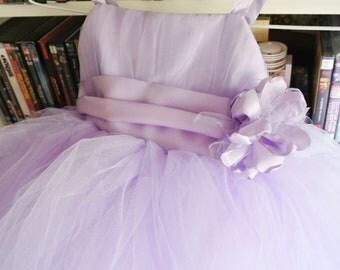 Sewn Tutu Dress (6-8 years) with sash and corsage.