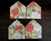 Dahlia Mini Envelope Set of 4, Business cards holder, Gift Card Envelope